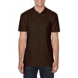 POLOSHIRT GILDAN 64800 DARK CHOCOLATE