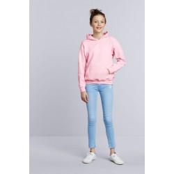 SWEATER GILDAN HOODED HEAVYBLEND FOR KIDS 18500B LIGHT PINK