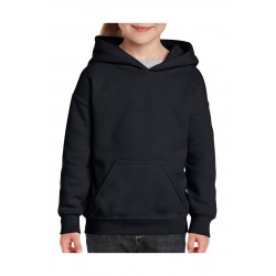 SWEATER GILDAN HOODED HEAVYBLEND FOR KIDS 18500B ZWART