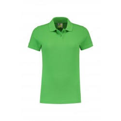 POLOSHIRT L&S BASIC PIQUE SS FOR HER 3535 LIME