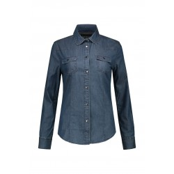 BLOUSE L&S 3950 DENIM SHIRT FOR HER BLUE DENIM