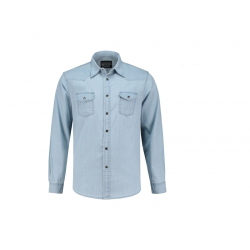 BLOUSE L&S 3960 DENIM SHIRT LIGHTBLUE DENIM
