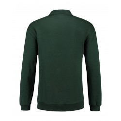 POLOSWEATER L&S 3210 FOREST GREEN