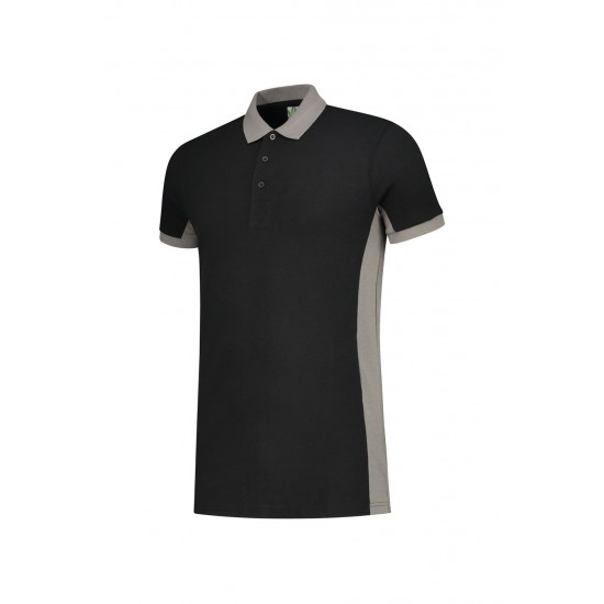 POLOSHIRT  L&S WORKWEAR SS 4600 BLACK PEARLGREY T shirt