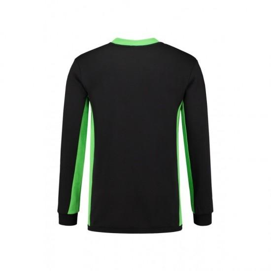 SWEATER L&S 4750 SWEATER WORKWEAR BLACK LIME Sweaters  & Truien