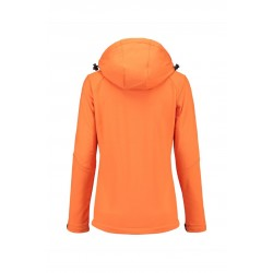 SOFTSHELL L&S 3627 ORANGE JACKET HOODED FOR HER
