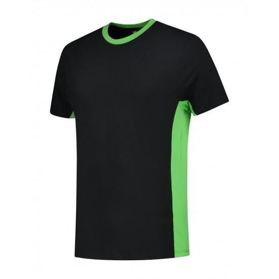T-SHIRT L&S WORKWEAR SS 4500 BLACK LIME T shirt