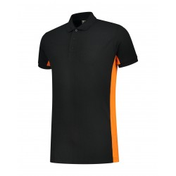 POLOSHIRT  L&S WORKWEAR SS 4600 BLACK ORANGE