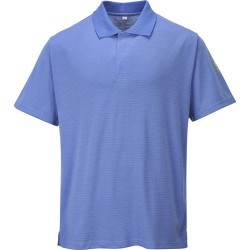 ESD POLOSHIRT PORTWEST AS21 HOSPITAL BLUE