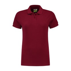 POLOSHIRT L&S BASIC PIQUE SS FOR HER 3535 BORDEAUXROOD